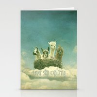 never stop exploring Stationery Cards featuring Never Stop Exploring by Monika Strigel