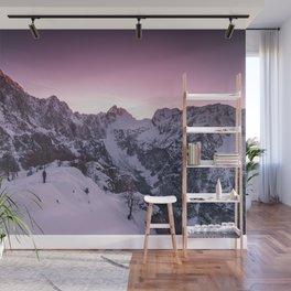 Standing in winter wonderland Wall Mural
