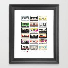 Cassettes (mixtape love) Framed Art Print