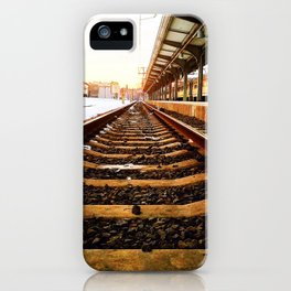 Sunset Tracks iPhone Case