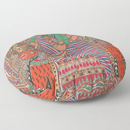 DurgaMadhubani art or Mithila painting was traditionally created by the women of various communities Floor Pillow