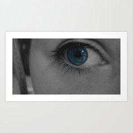 Blue stare Art Print