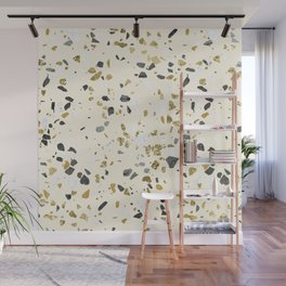 Glitter and Grit Yellow Gold Marble Wall Mural