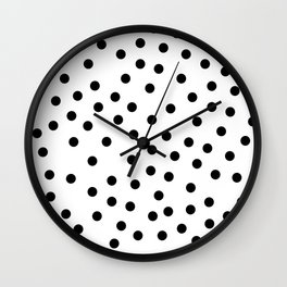 Simply Dots in Midnight Black Wall Clock