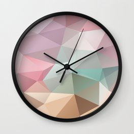 Abstract triangles polygonal pattern Wall Clock