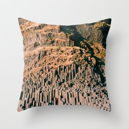 Beneath the puffins Throw Pillow