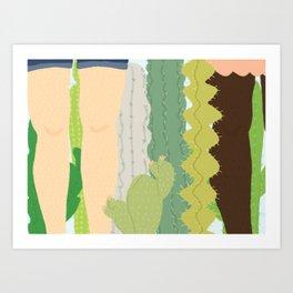 cacti legs Art Print