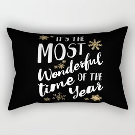 It's the Most Wonderful Time of the Year - Black Rectangular Pillow