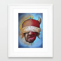 religion Framed Art Prints featuring Religion by Tatstom48