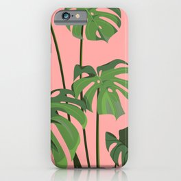 Monstera in Pink iPhone Case