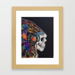 color skull  Framed Art Print