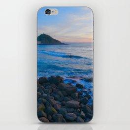 Sunset blue and orange. San Sebastian, Spain. iPhone Skin