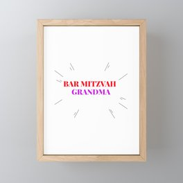 bar mitzvah  for bar mitzvah boys and familes Framed Mini Art Print