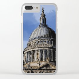 St Paul's Catherdral, London. Clear iPhone Case