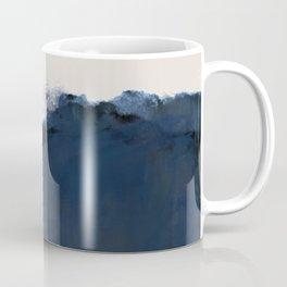 Abstract, blue, beige, indigo Coffee Mug
