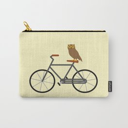 Owl Riding Bike Carry-All Pouch