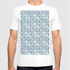 tile pattern IV - Azulejos, Portuguese tiles White Mens Fitted Tee MEDIUM