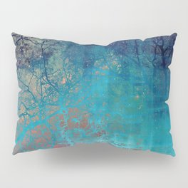 On the verge of Blue Pillow Sham