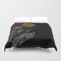frida kahlo Duvet Covers featuring FRIDA KAHLO by Giada Mantione