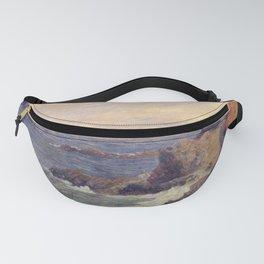 """Paul Gauguin - Seascape """"Rochers au bord de la mer"""" or """"La Côte rocheuse"""" (1886) Fanny Pack"""