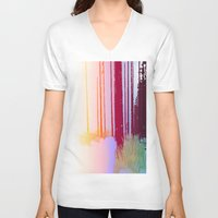 forrest V-neck T-shirts featuring Color Forrest by Darla Designs