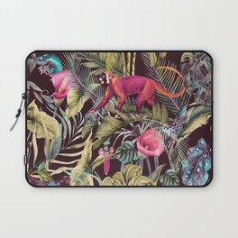 Fantasy in the nocturnal tropical jungle Laptop Sleeve