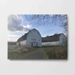 Nisqually Barn Metal Print