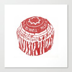 Tea Cake pen drawing (red) Canvas Print