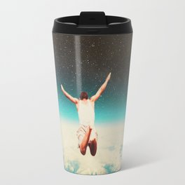 Falling with a hidden smile Travel Mug