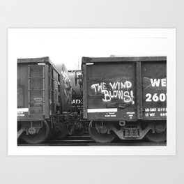 The Wind Blows Art Print