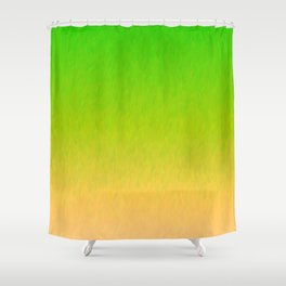 Green Orange Yellow Ombre Flame Shower Curtain