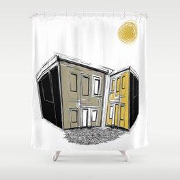 The Yellow Neighbourhood Shower Curtain