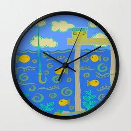 God has gone Fishin' Wall Clock