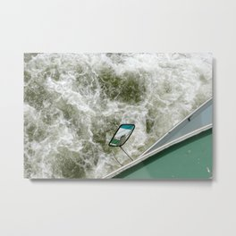 Mirror at a boat - water in Rotterdam - fine arty photography Holland Metal Print