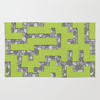 labyrinth Area & Throw Rugs featuring Labyrinth by wrkdesigns