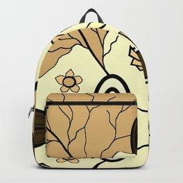 Brown Religion Illustration Backpack
