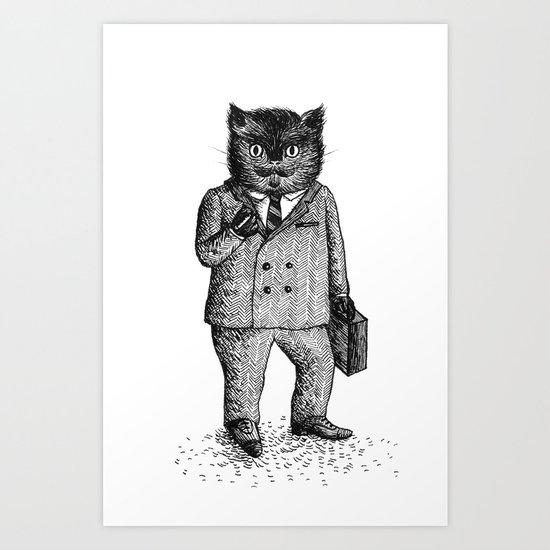 Cat - Boy Art Print