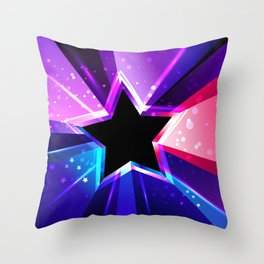 Tricolor Star Throw Pillow