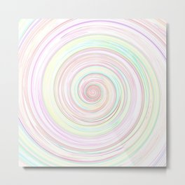 Re-Created Spin Painting by Robert S. Lee  Metal Print