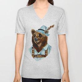 Bear-Varian  Unisex V-Neck
