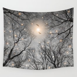 Nature Blazes Before Your Eyes 2 (Ash Embers) Wall Tapestry