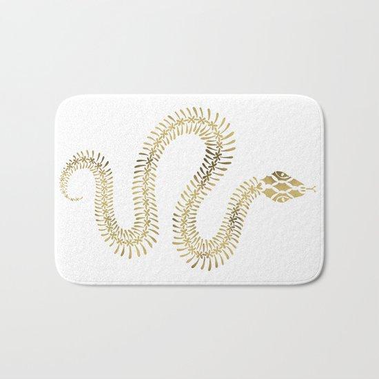 Snake Skeleton – Gold Bath Mat