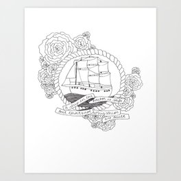 A Ship in the Harbor Art Print