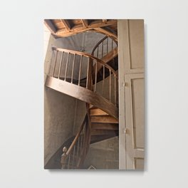 french spiral staircase Metal Print