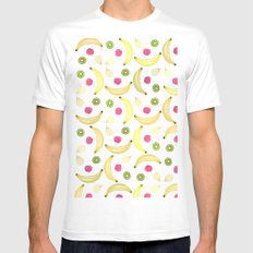 FRUITY DELICIOUS White MEDIUM Mens Fitted Tee