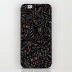 Ab Linear Rainbow Black iPhone Skin