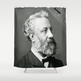 portrait of Jules Verne by Nadar Shower Curtain