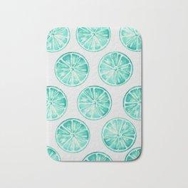 Turquoise Citrus Bath Mat