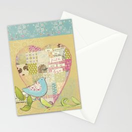 She Expressed Her Faith by Terri Conrad Designs Stationery Cards