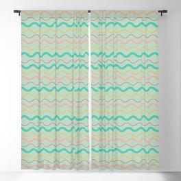 simple waves pattern pastel colors Blackout Curtain